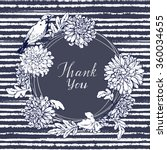 hand drawn vintage card. floral ... | Shutterstock .eps vector #360034655