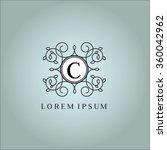 c letter vector logo template ... | Shutterstock .eps vector #360042962