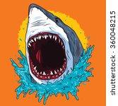 Creative Shark Attack   Vector
