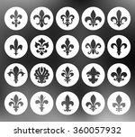 fleur de lis set | Shutterstock .eps vector #360057932