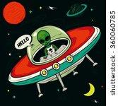 alien invasion vector... | Shutterstock .eps vector #360060785