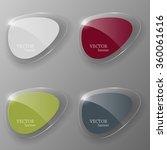glass banner set. vector... | Shutterstock .eps vector #360061616