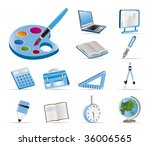 school and education icons  ... | Shutterstock .eps vector #36006565