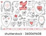 valentines day wedding love... | Shutterstock . vector #360069608