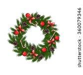 hristmas wreath | Shutterstock . vector #360079346