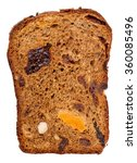 Chunk Of Fruit Bread Isolated...