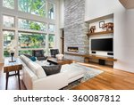 beautiful living room with... | Shutterstock . vector #360087812
