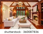 beautiful living room interior... | Shutterstock . vector #360087836