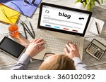 blog weblog media digital... | Shutterstock . vector #360102092