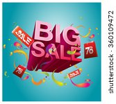 big sale promo department store | Shutterstock .eps vector #360109472