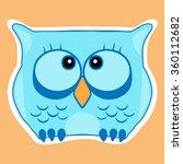 funny cute animal  owl. owl... | Shutterstock .eps vector #360112682