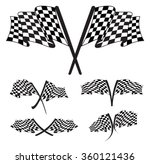 racing flag illustration | Shutterstock .eps vector #360121436