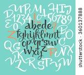 vector alphabet. hand drawn... | Shutterstock .eps vector #360137888