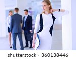 portrait of young businesswoman ... | Shutterstock . vector #360138446