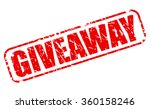 giveaway red stamp text on white | Shutterstock .eps vector #360158246