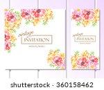 romantic invitation. wedding ... | Shutterstock . vector #360158462
