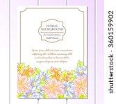 romantic invitation. wedding ... | Shutterstock . vector #360159902