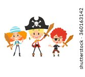 kids as pirates | Shutterstock .eps vector #360163142