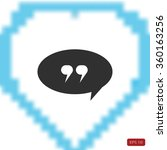 quote icon | Shutterstock .eps vector #360163256