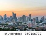 bangkok city at sunset thailand | Shutterstock . vector #360166772
