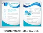 vector brochure flyer design... | Shutterstock .eps vector #360167216