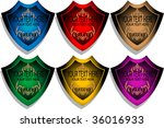 colorful labels set | Shutterstock .eps vector #36016933