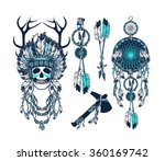 vector set of the epic indian... | Shutterstock .eps vector #360169742
