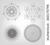 sacred geometry. vector... | Shutterstock .eps vector #360170798