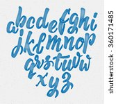 hand drawn font handwriting... | Shutterstock .eps vector #360171485