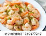 Shrimps Cooked With Garlic And...