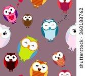 seamless texture with cartoons... | Shutterstock .eps vector #360188762
