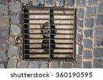 rectangular sewer with a rust... | Shutterstock . vector #360190595