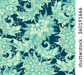 ethnic floral seamless pattern... | Shutterstock .eps vector #360191666