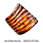 grilled pork ribs isolated on... | Shutterstock . vector #360214766