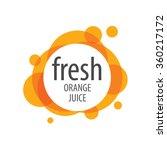 logo of fresh juice | Shutterstock .eps vector #360217172