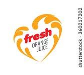 logo of fresh juice | Shutterstock .eps vector #360217202