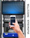 smart phone on network... | Shutterstock . vector #360217736