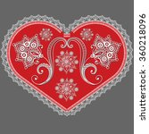 lace red valentine heart in... | Shutterstock .eps vector #360218096