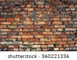 rough brick wall with ugly... | Shutterstock . vector #360221336