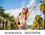 lifestyle summer image of... | Shutterstock . vector #360224036
