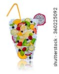 ice fruit cocktail with ice... | Shutterstock . vector #360225092