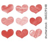 valentine's day set of hearts.... | Shutterstock .eps vector #360229148