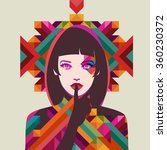 portrait of a woman  eps10... | Shutterstock .eps vector #360230372