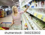 beautiful woman shopping in... | Shutterstock . vector #360232832