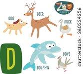 cute zoo alphabet in vector.d... | Shutterstock .eps vector #360234356