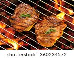grilled pork steak on the... | Shutterstock . vector #360234572