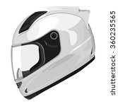 white motorcycle helmet on a... | Shutterstock .eps vector #360235565