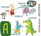 cute zoo alphabet in vector. a... | Shutterstock .eps vector #360239696