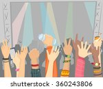 illustration of the audience of ... | Shutterstock .eps vector #360243806
