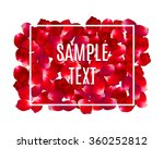 Stock vector rose petals border frame with text beauty and cosmetic background with flowers petals and place 360252812